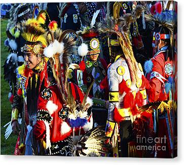 Fancy-dancer Canvas Print - Pow Wow Beauty Of The Past 5 by Bob Christopher