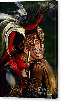 Fancy-dancer Canvas Print - Pow Wow Beauty Of The Past 6 by Bob Christopher