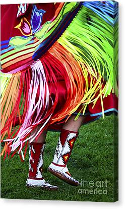 Fancy-dancer Canvas Print - Pow Wow Beauty Of The Past 9 by Bob Christopher