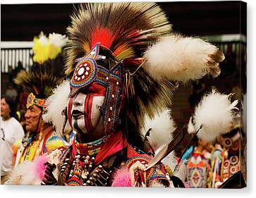 First Nations Canvas Print - Pow Wow Celebration No 10 by David Smith