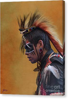 Canvas Print featuring the mixed media Pow Wow by Jim  Hatch