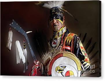 Pow Wow Portrait Of A Proud Man 2 Canvas Print by Bob Christopher