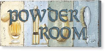 Powder Room Canvas Print by Debbie DeWitt