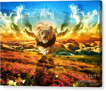 Power And Glory Canvas Print by Dolores Develde