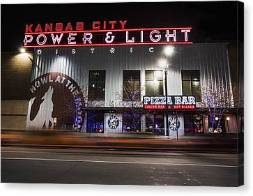 Power And Light Pizza Canvas Print