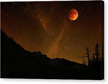 Power Blood Moon Canvas Print