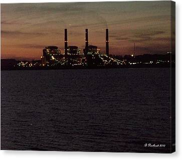 Canvas Print featuring the photograph Power In The Dark by Betty Northcutt