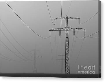 Canvas Print featuring the photograph Power Line by Franziskus Pfleghart
