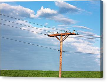 Power Line Pylon Canvas Print by Todd Klassy