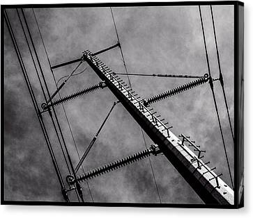 Power Line Sky Canvas Print by Frank Winters