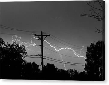 Power Lines Bw Fine Art Photo Print Canvas Print by James BO  Insogna