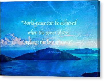 Canvas Print featuring the painting Power Of Love by Joan Reese