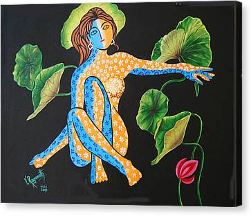 Canvas Print featuring the painting Power Of Nature by Ragunath Venkatraman
