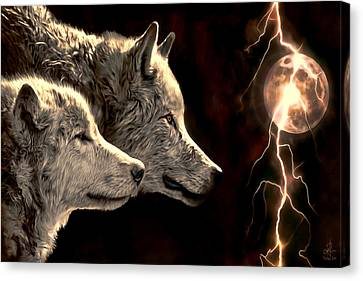 Power Of The Moon Canvas Print by Pennie  McCracken