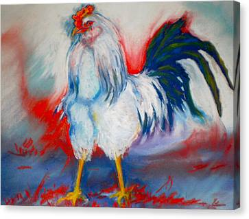 Power Rooster Canvas Print by Pat Crowther