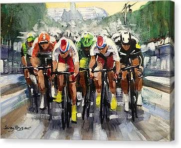 Power Sprint Stage 21 Canvas Print by Shirley Peters