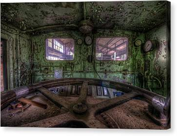 Power Station Train Canvas Print by Nathan Wright