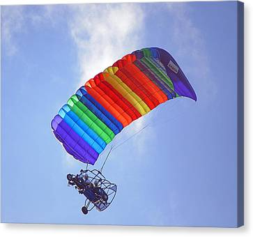 Powered Parasailing 1 Canvas Print by Kenneth Albin