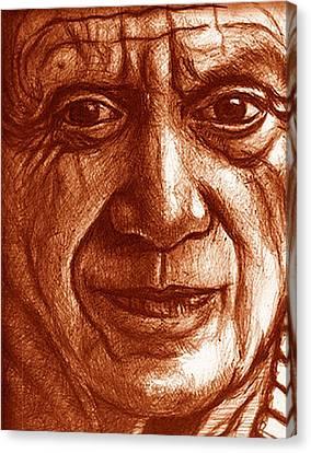 Biro Art Canvas Print - Powerful Eyes by Jerry  Stith