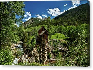 Powerhouse Above The Crystal River Canvas Print