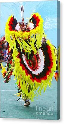 Giselaschneider Canvas Print - Powwow Dancer ... Montana Art Photo  by GiselaSchneider MontanaArtist