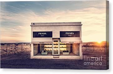 Long Canvas Print - Prada Store by Edward Fielding