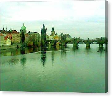 Prague  1 Jgibney 2000 City Bridge 2010 Canvas Print by  jGibney