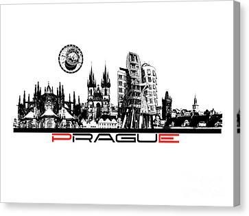 Prague Art Canvas Print