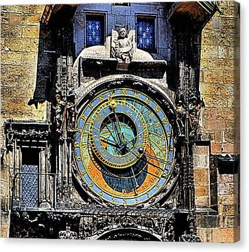 Prague Astronomical Clock 2 Canvas Print