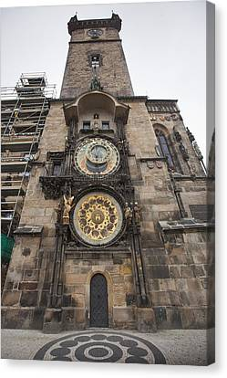 Prague Astronomical Clock Canvas Print by Andre Goncalves