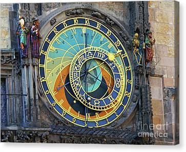 Prague Astronomical Clock Canvas Print by Mariola Bitner