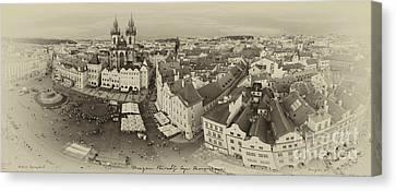 Prague Bird's Eye Panorama Canvas Print by Prague Art Prints