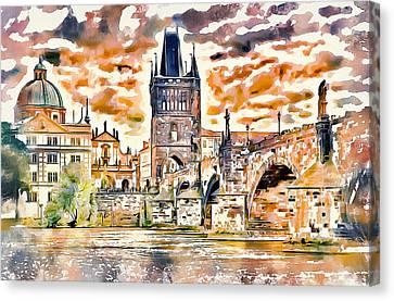Prague Bridge 2 Canvas Print