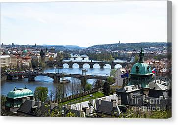 Prague Bridges Canvas Print by Rui DeGouveia