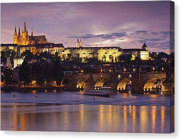 Prague Castle And Charles Bridge Canvas Print by Andre Goncalves