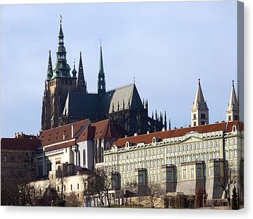 Prague Castle And St. Vitus Cathedral Canvas Print by Miroslav Nemecek