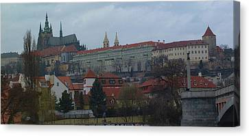 Prague Castle In Prague Czech Republic Canvas Print by Paul Pobiak
