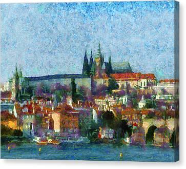 Prague Castle Canvas Print by Peter Kupcik
