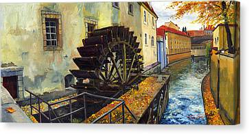 Prague Chertovka Canvas Print by Yuriy  Shevchuk