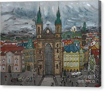 Prague Canvas Print by Crafty Daniel