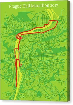 Prague Half Marathon #2 Canvas Print