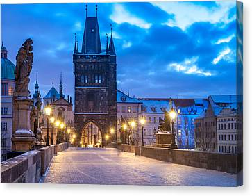 Prague In Blue Canvas Print