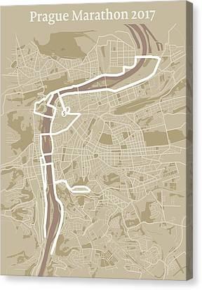 Prague Marathon #1 Canvas Print