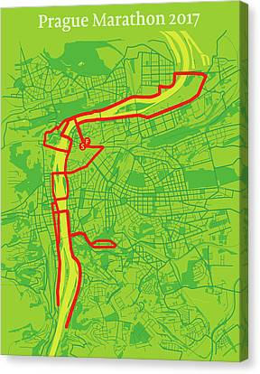 Prague Marathon #2 Canvas Print