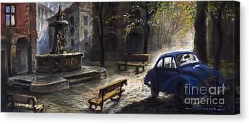 Prague Old Fountain Canvas Print by Yuriy  Shevchuk