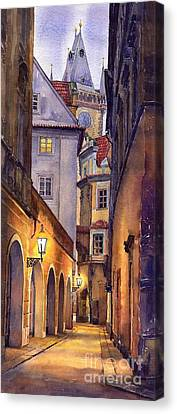 Street Canvas Print - Prague Old Street  by Yuriy  Shevchuk