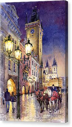 Prague Old Town Square 3 Canvas Print by Yuriy  Shevchuk