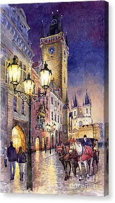 Prague Old Town Square 3 Canvas Print by Yuriy  Shevchuk