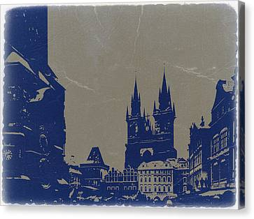 Prague Old Town Square Canvas Print by Naxart Studio