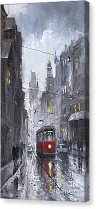Prague Old Tram 03 Canvas Print by Yuriy  Shevchuk